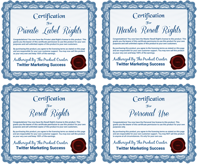 Twitter Marketing Success - Licenses