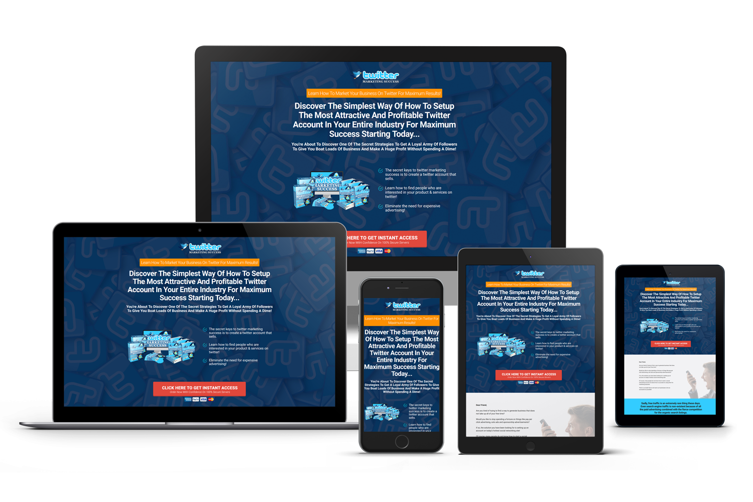 Twitter Marketing Success Mobile Responsive