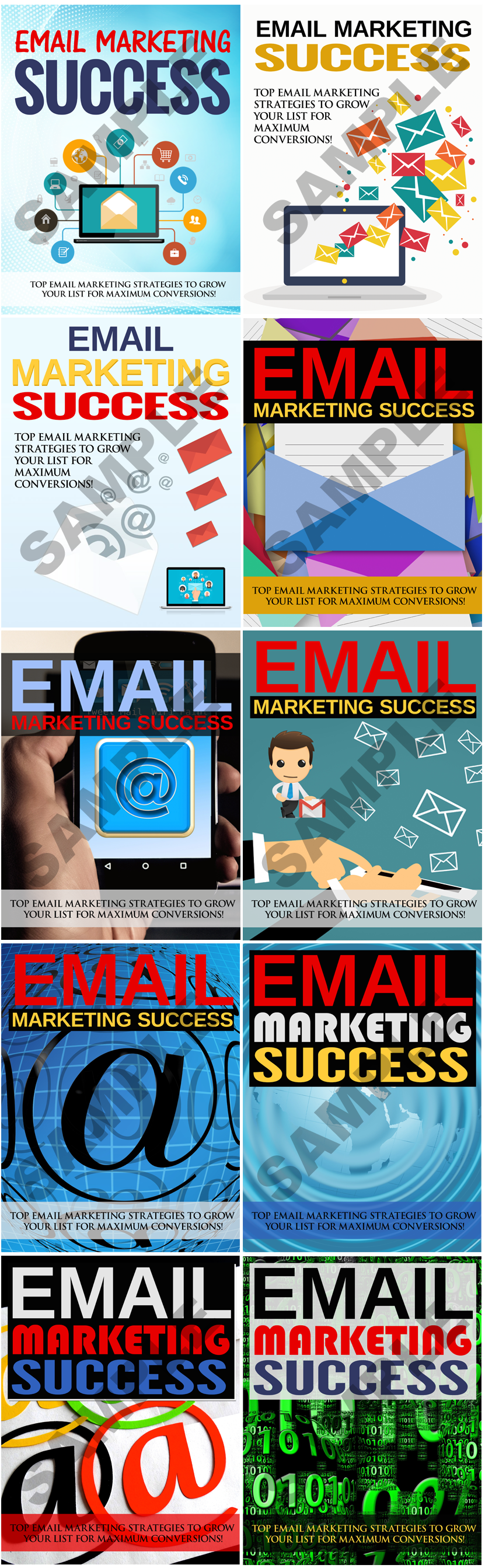 Email Marketing Success Extra High Quality Ecovers