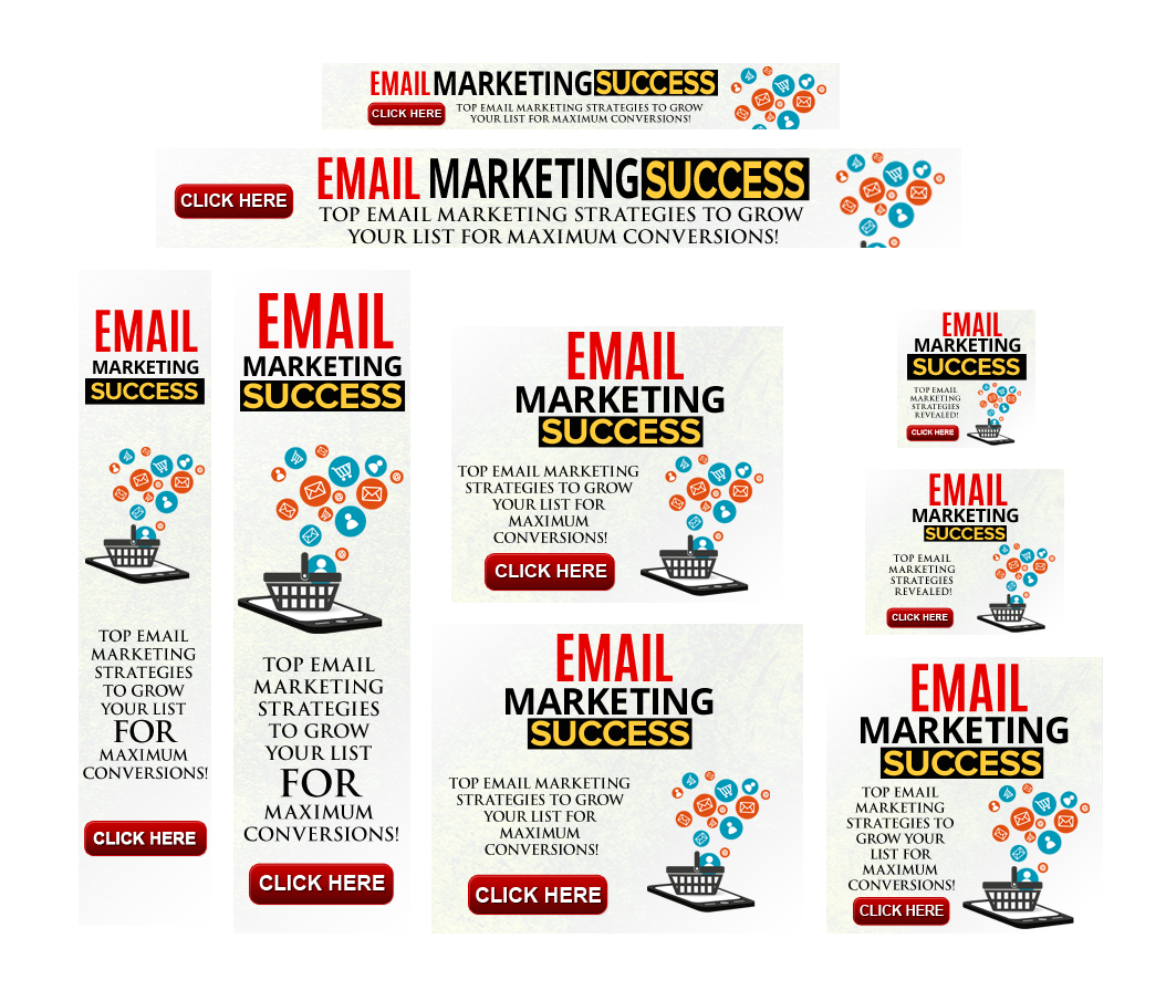 Email Marketing Success High Quality Animated Banners