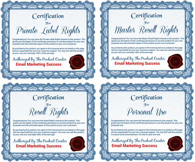 Email Marketing Success Licenses