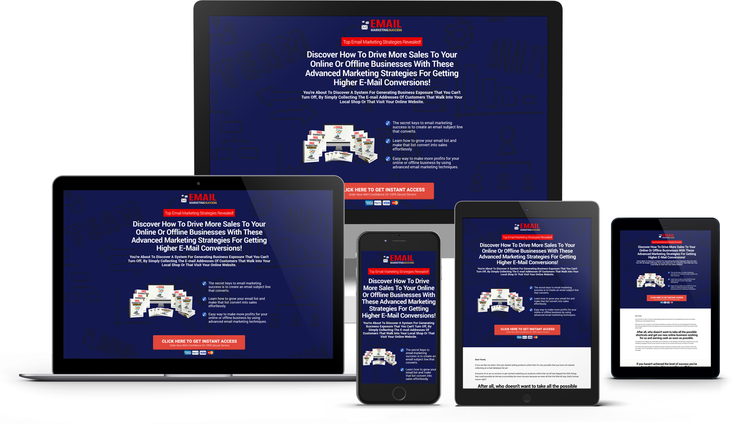 Email Marketing Success Minisite Fit All Screens